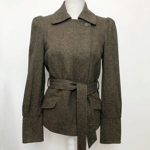French Connection Brown Wool Tweed Jacket